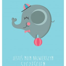 plakat-slonik-niebieski